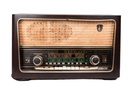 short wave: Old vintage radio that is able to receive worldwide transmission over short wave.