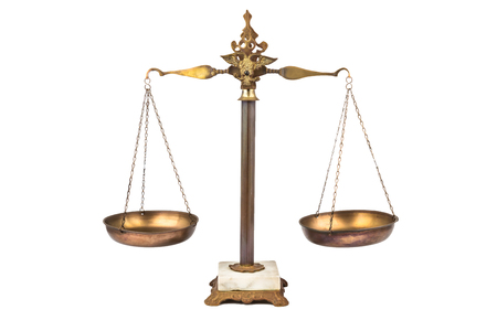 Balanced scale - fair and just photo