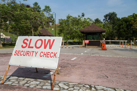 checkpoint: Security checkpoint of a residential area