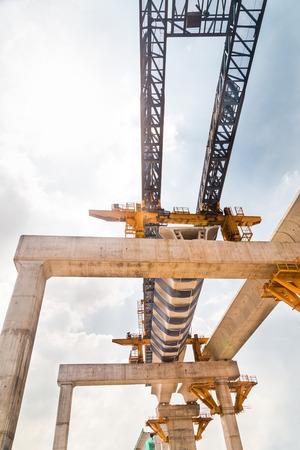 transit: Construction of a Mass Rail Transit line in progress