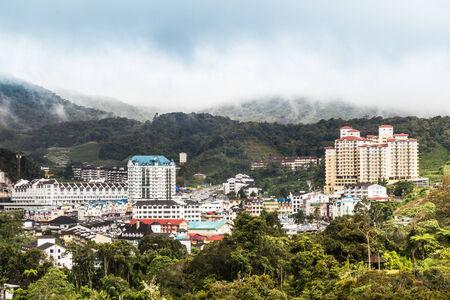 pahang: View of Brinchang town, Cameron Highlands on a serene morning Editorial