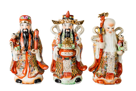 Chinese God of Fortune, Prosperity and Longevity figurine photo