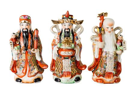 Chinese God of Fortune, Prosperity and Longevity figurine