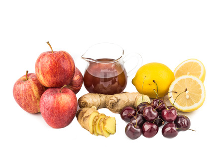 Common home remedy to treat gout inflammation - Cherries, Lemon Juice, Apple Cider Vinegar, Ginger Roots