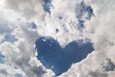 lining: Heart shaped cloud formation