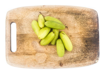 assam: Local carambola fruit, also known as buah belimbing assam or belimbing wuluh in Malaysia and Indonesia Stock Photo