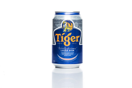 SINGAPORE, February 24, 2015: Tiger Beer accounted for 29% of total volume share of the Singapore beer market.  Tiger Beer is a brand of Asia Pacific Breweries Ltd, Singapore.