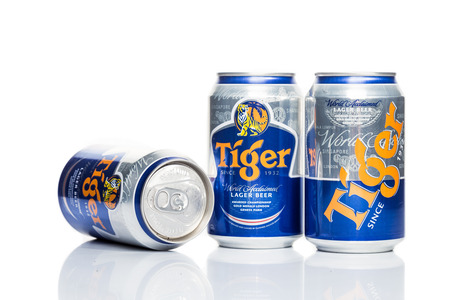 accounted for: SINGAPORE, February 24, 2015: Tiger Beer accounted for 29% of total volume share of the Singapore beer market.  Tiger Beer is a brand of Asia Pacific Breweries Ltd, Singapore.