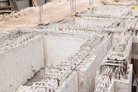 building foundation: Building foundation at construction site