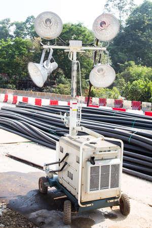 luminaire: Construction site mobile spot light