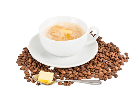 bullet proof: Coffee with milk and added butter
