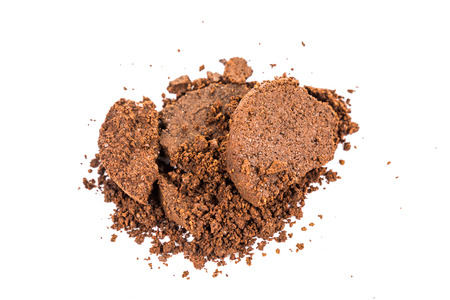 Spent or used coffee grounds