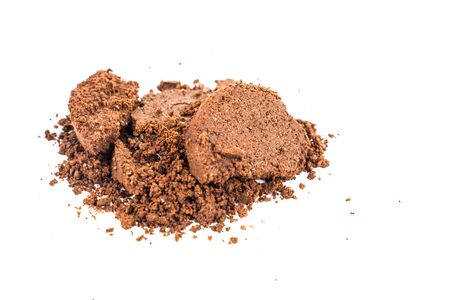 coffee grounds: Spent or used coffee grounds
