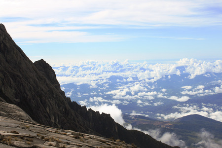 lows: View of the ascending path to Mount Kinabalu