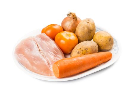 boil: Ingredients to double boil Chinese potatoes carrots tomatoes soup
