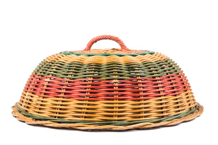 Traditional rattan weaved food cover