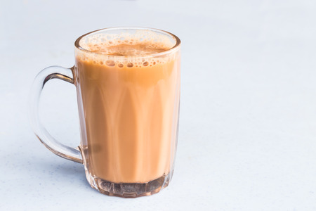 Tea with milk or popularly known as Teh Tarik in Malaysia