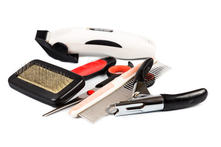 Dog grooming tools and accessories set