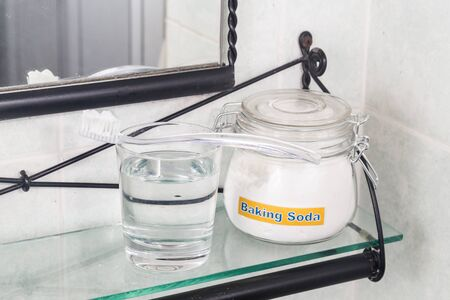 brighten: Baking soda used to brighten teeth and remove plague from gums
