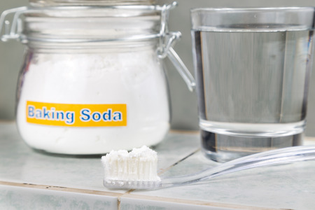 salt water: Baking soda used to brighten teeth and remove plague from gums