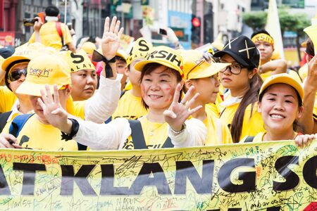 parliamentary: KUALA LUMPUR, Malaysia - August 29, 2015: The BERSIH 2.0 organized a street rally dubbed BERSIH 4 on August 29 and 30th to call for clean and transparent governance in Malaysia as well as strengthening parliamentary democracy system Editorial
