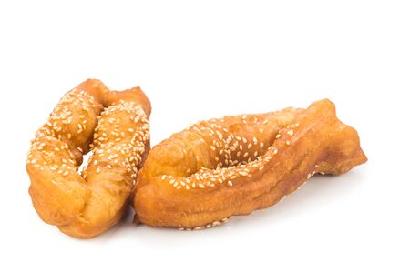 ma: Horse Shoe Fritters, also known as Ma Geok or Butterfly, a popular fried food among Chinese Stock Photo