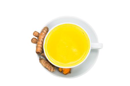 latte fresco: Curcuma con latte beve bene per la salute e bellezza