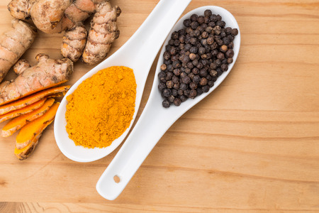 absorption: Turmeric roots and black pepper combination enhances bioavailability of curcumin absorption in body for health benefits