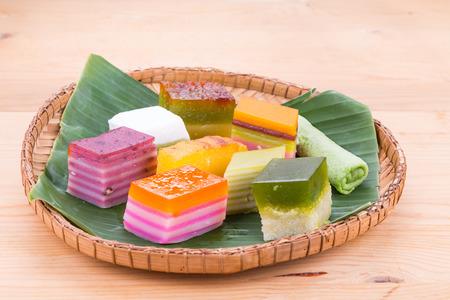 Maleisië populaire assortiment zoete dessert of gewoon bekend als kueh of kuih