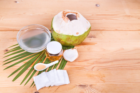 swaps: Natural coconut juice with raw honey are natural toner to reduce face acne and smoother facial skin.