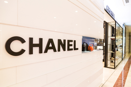 chanel: KUALA LUMPUR, MALAYSIA, May 20, 2016: CHANEL signage at its outlet at KLCC, Kuala Lumpur. CHANEL operates some 310 Chanel boutiques worldwide. Coco Chanel was founded in 1909 in Paris, France.