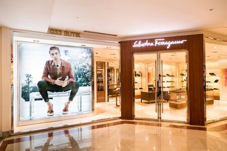 luxury goods: KUALA LUMPUR, MALAYSIA, May 20, 2016: The Salvatore Ferragamo store in KLCC, Kuala Lumpur.  Ferragamo produces luxury goods including shoes, handbags, clothing and more.