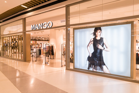 retailer: KUALA LUMPUR, MALAYSIA, JULY 16, 2016: Mango is an international fashionable apparel retailer with stores all over the world