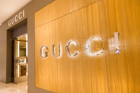 KUALA LUMPUR, MALAYSIA -  January 29, 2017: Gucci, Italian luxury brand of fashion and leather goods with shop in Malaysia