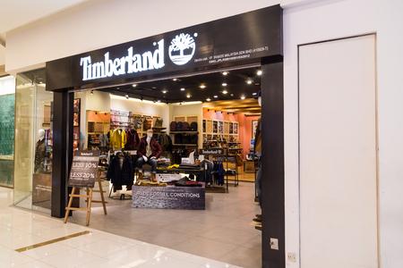 timberland: KUALA LUMPUR, MALAYSIA -  January 29, 2017: Timberland LLC  retailer of outdoors wear with store in Kuala Lumpur