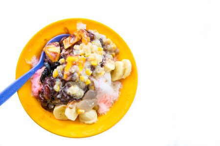 Ice kacang or shaved ice sweet dessert, popular in Malaysia and Singapore
