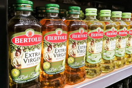illustrative editorial: KUALA LUMPUR, Malaysia, June 25, 2017:  Bertolli is an Italian food brand. Originating as a brand of extra-virgin olive oil, it grew into an international brand of Italian and Mediterranean food.