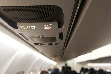 Air cabin switch off or no electronics and fasten seat belt signage