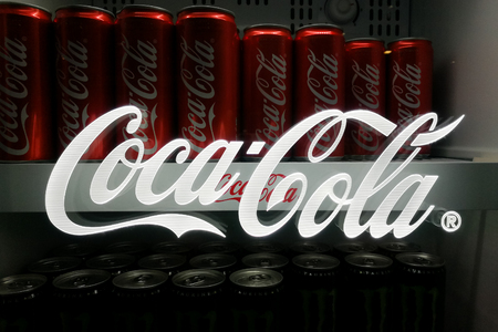 KUALA LUMPUR, MALAYSIA -November 18, 2017: Coca Cola is the leading cola drinks in Malaysia.  Coca-Cola has invested RM1bil in Malaysia since 2010, creating more than 800 jobs and over 75,000 customers directly. Редакционное