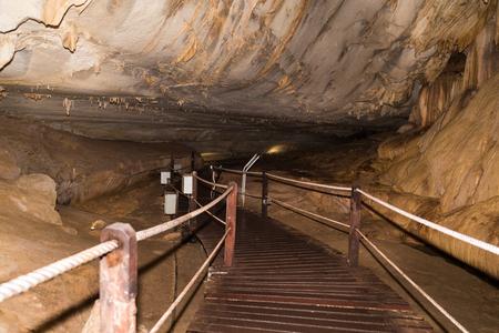 Limestone formation inside Lang Caves at Mulu National Park, Sarawak