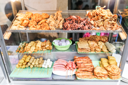 Loh bak, or lobak is popular fried food in Penang. Sold in shops or street stalls.
