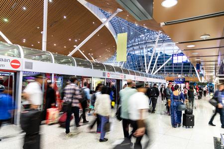 KUALA LUMPUR, FEBRUARY 9, 2019: Terminal 1 and 2 at Kuala Lumpur International Airport KLIA are connected via the aerotrain system.