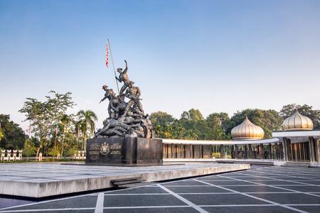 KUALA LUMPUR, MALAYSIA, APpril 18, 2019: Tugu Negara National Monument, a popular tourist destination in Kuala Lumpur.  Commemorates those who died in struggle for freedom Redakční