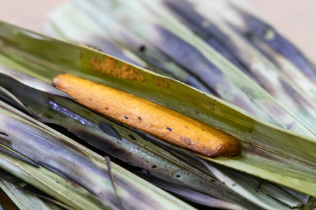Otak otak is grilled traditional food with spicy fish wrapped in leaf