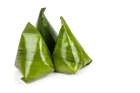 Kueh Kochi or Koci is  Asian dumpling made from glutinous rice flour, and stuffed with coconut fillings with palm sugar. Isolated in white