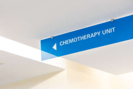 Chemotherapy unit signage at hospital for cancer treatment