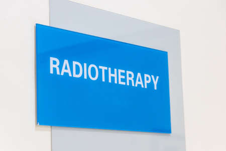 Radiotherapy word direction signage in hospital for cancer treatment