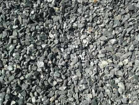 construction materials: grounded gravel