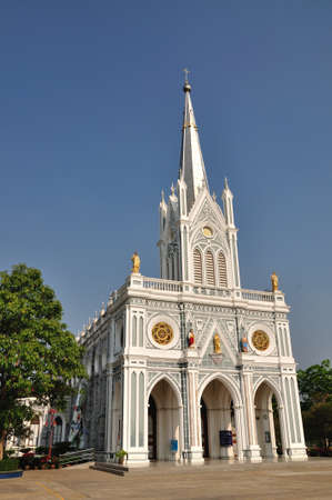 Christian chruch in Samutsongkram of Thailand.  It is called  photo