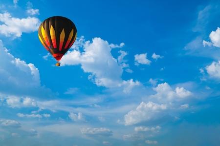 Hot air balloon with blue sky